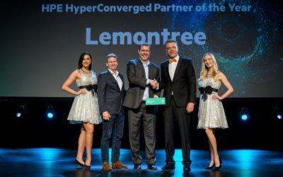 Lemontree HPE Hyperconverged partner of the year