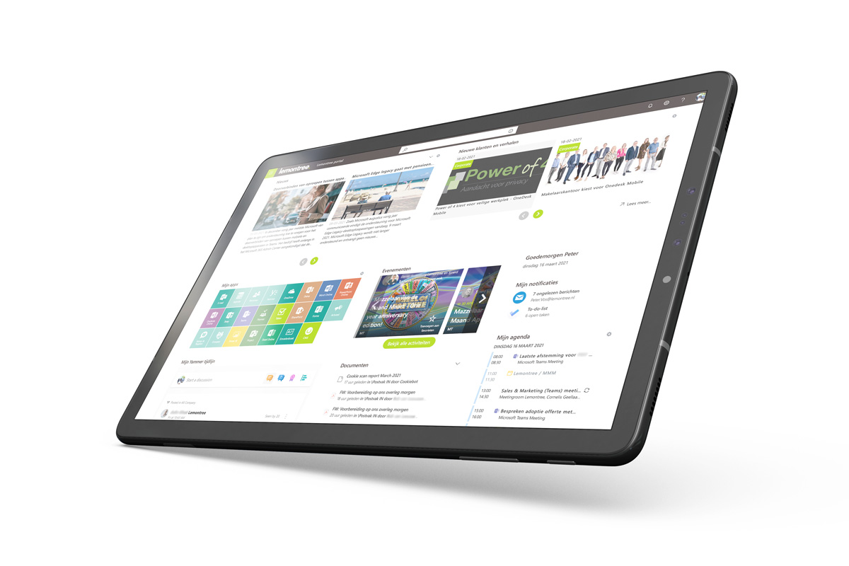 Onedesk on mobile