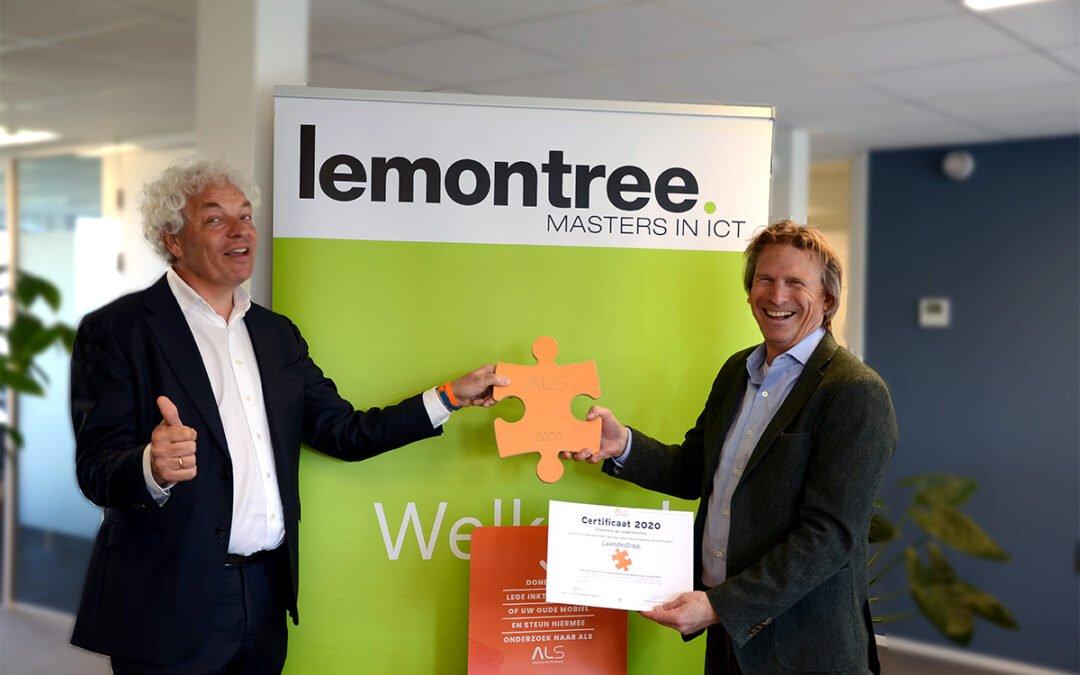 Lemontree en Stichting ALS willen samen de puzzel leggen
