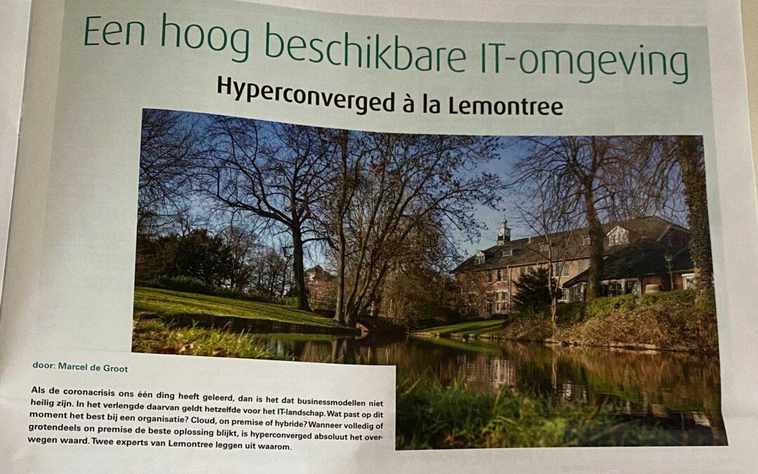 Paginagroot in ICT/Magazine – hyperconverged à la Lemontree
